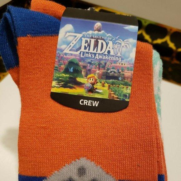Legend of Zelda Links Awakening 3 Pair Crew Socks